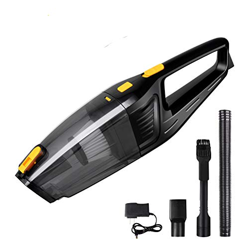 Cordless Handheld Vacuum, MANGEE 100W Portable Cordless Vacuum Cleaner, Rechargeable Lithium Hand Held Vacuum, Lightweight Hand Vac for Home/Car/Pet Hair Cleaning – Dry Wet Amphibious (Black)