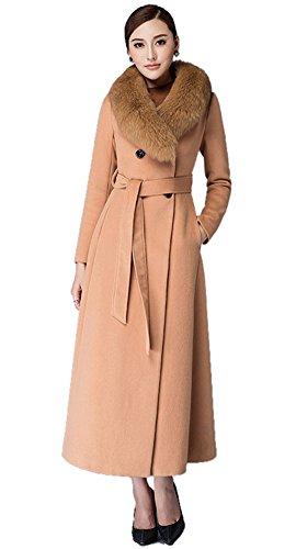 Insun - Abrigo - Gabardina - Manga Larga - para mujer marrón claro