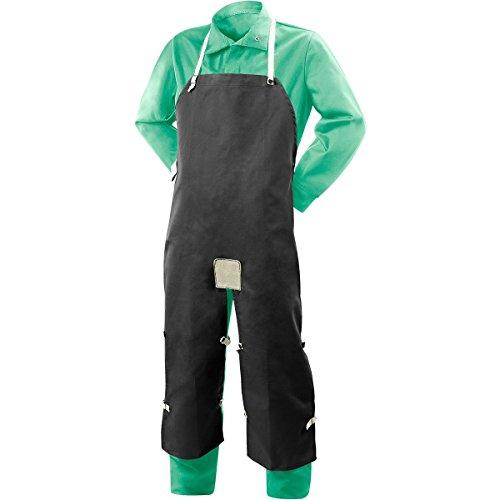 Steiner Apron - Steiner 10872 Split Leg Bib Apron, Flame Resistant 9-Ounce Cotton , Black, 48-Inch