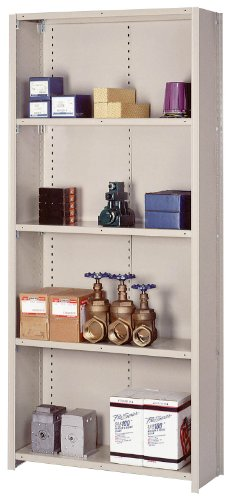 Lyon DD8039SX 8000 Series Closed Shelving Starter with 5 Extra Heavy Duty Shelves, 36