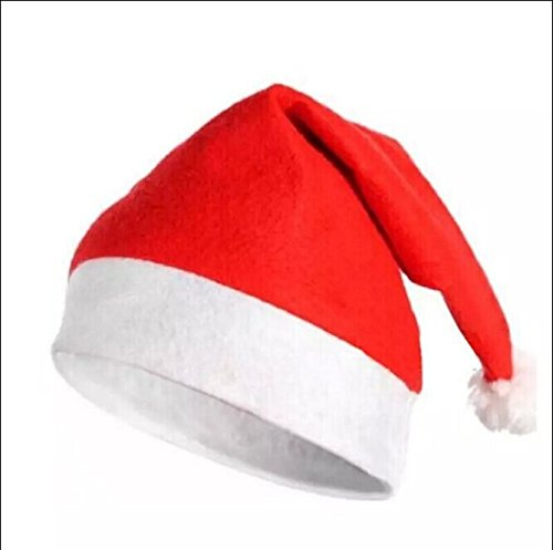 [Merry Christmas Hat , Special Funny Red Nonwoven and White Plush Christmas Ornaments Santa Caps For Adult &Children( Pack of] (Turban And Beard Costume)