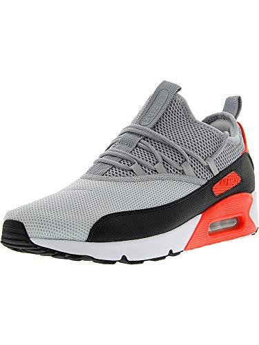 Nike Mens Air Max 90 EZ Running Shoes Pure Platinum/Wolf Grey/Black/Infrared AO1745-002 Size 10
