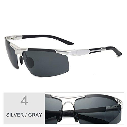 Semi Gris Luz De Anteojos Rayos De Gafas Hd Negro Silver Reborde TIANLIANG04 Sol Gafas Los Gray Gafas Polarizadas Mg Filtrar De Trajes Hombre De Guía Al XRw5qqcgP