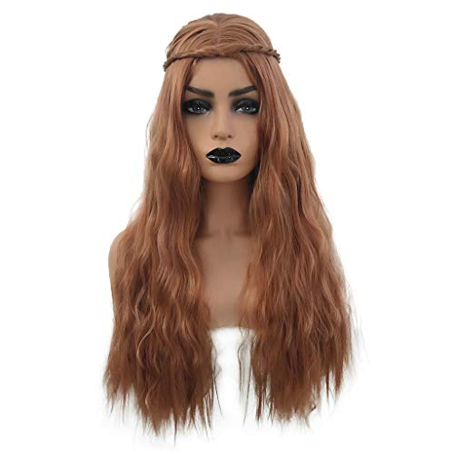 Chranto lucky 7 ! ! Women's Long Curly Hair Wig Halloween Costume Cosplay Party Scorpion Wig]()