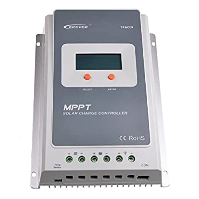 EPEVER Solar Charge Controller MPPT Control 10A/20A/30A/40A with 12V/24V DC Input (30A)