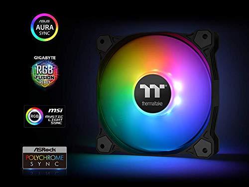 Thermaltake Pure 12 ARGB 5V Motherboard Sync/Analog Controller TT Premium  Edition 16 8 Million Colors 9 Addressable LEDs 120mm Hydraulic Bearing PWM