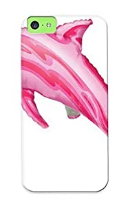 Ellent Iphone 5c Case PC Cover Back Skin Protector Pink Dolphins For Lovers
