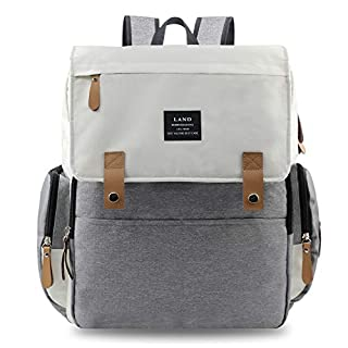 Diaper Bag Backpack, Waterproof Diaper Bag Large Capacity Mommy Diaper Backpack Baby Nappy Bags with Multi-Function, Durable and Stylish (Lavender)