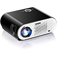Video Projector, Papake 1080P HD Home Theater Projector, 3200 Lumens Multimedia LED Office Projector 5.8 LCD Panel HDMI/VGA/AV/USB Input, Support TV Laptop Game U Disk (HDMI Cable Included)