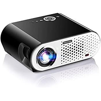"""Video Projector, Papake1080P HD Home Theater Projector, 3200 Lumens Multimedia LED Office Projector 5.8"""" LCD Panel HDMI/VGA/AV/USB Input, Support TV Laptop Game U Disk (HDMI Cable Included)"""