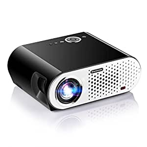 "Video Projector, Papake 1080P HD Home Theater Projector, 3200 Lumens Multimedia LED Office Projector 5.8"" LCD Panel HDMI/VGA/AV/USB Input, Support TV Laptop Game U Disk (HDMI Cable Included)"