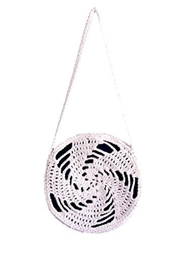 Amazon White Crossbody Circle Bag Handmade By Sineadnodi
