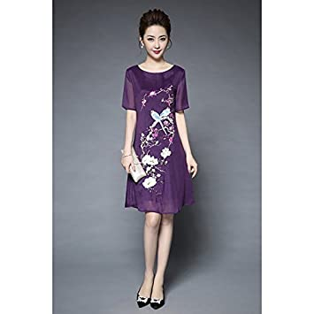 f607d316f2ae JIALELE Women s Party Going Out Vintage Chinoiserie Street Chic Loose Above  Knee Dress