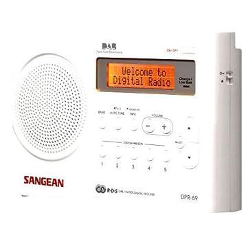 Sangean DPR 69+ Tragbares DAB+ Digitalradio (UKW Tuner, Batterie /
