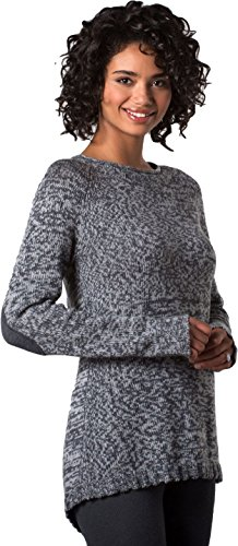 Toad & Co Marlevelous Pullover - Women's Heather Gray Large - Pleats Wool Sweater