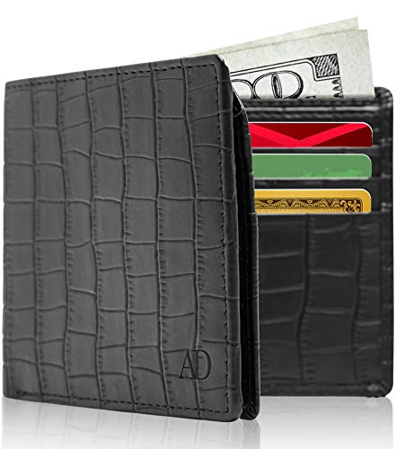 (Vegan Leather Wallets For Men - Cruelty Free Non Leather Mens Wallet With ID Window Gifts For Men)