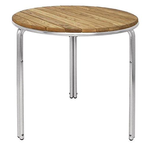 Bolero Round Ash And Aluminium Stacking Table 720x600mm Furniture Commercial Nisbets 22918