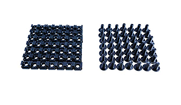 RAISING ELECTRONICS 100pair M6 12mm Button Head Screw with Cage Nuts for Servers Data Networking Rack