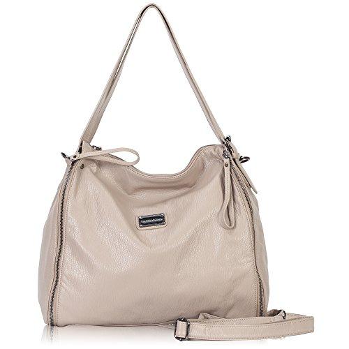 Hynes Victory Generous Women Handbag with Shoulder Strap Zipper Tote Large Hobo Bags