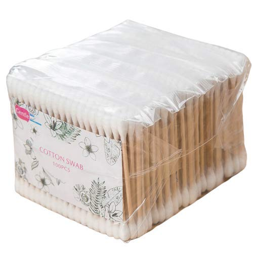 Stuffuwant 500pk Bamboo Cotton Buds | Environmentally Friendly Compostable & Biodegradable | Wooden Ear Swabs | Eco Friendly | Vegan |