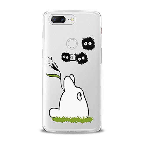 Lex Altern TPU Case for OnePlus 7 Pro 6T 6 2019 5T 5 2017 One+ 3 1+ Clear Kawaii White Totoro Funny Adorable Spirits Cover Painted Print Cartoon Cute Art Creative Child Silicone Teen Modern Gift]()