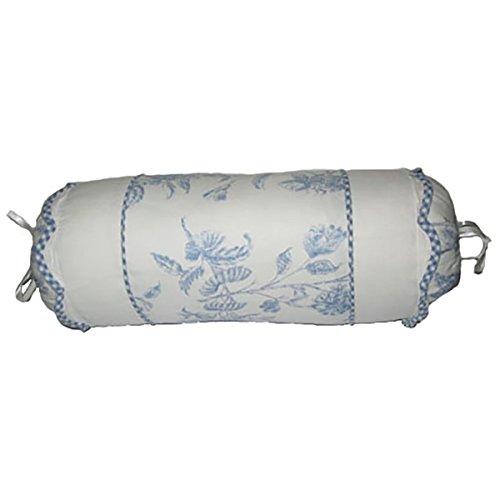 C&F Home Blue Toile Neckroll Pillow Toile Neckroll