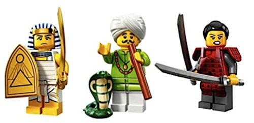 Egyptian Warrior, Snake Charmer, Samurai Warrior Woman: Lego Collectible Minifigures Series 13 Custom Bundle 71008