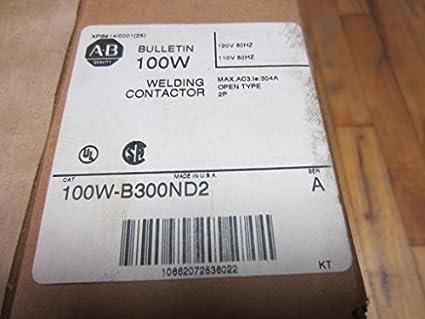 Allen Bradley 100 W-b300nd2 contactor de soldadura 100 wb300nd2 sellado de fábrica ser un: Amazon.es: Amazon.es