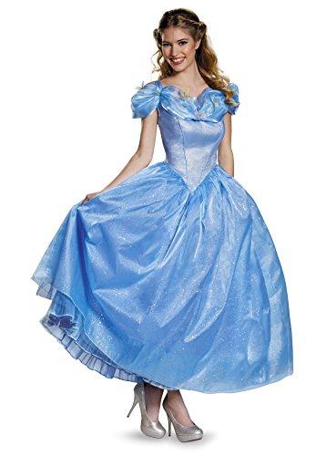 Disney Princess Fancy Dress Costumes Adults (Disney Women's Cinderella Movie Adult Prestige Costume, Blue, Large)