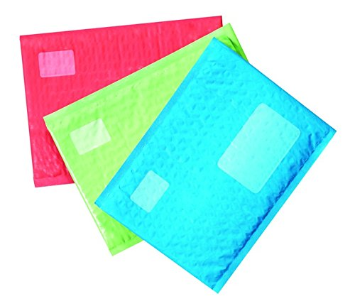 Scotch Smart Mailer, Bubble Plastic Mailer, 6 x 9 Inch, 12 Pack (8913-CLR),Assorted colors