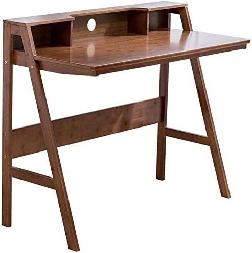 Oanzryybz Mesas Muebles de bambú Natural de Ordenador Escritorio ...