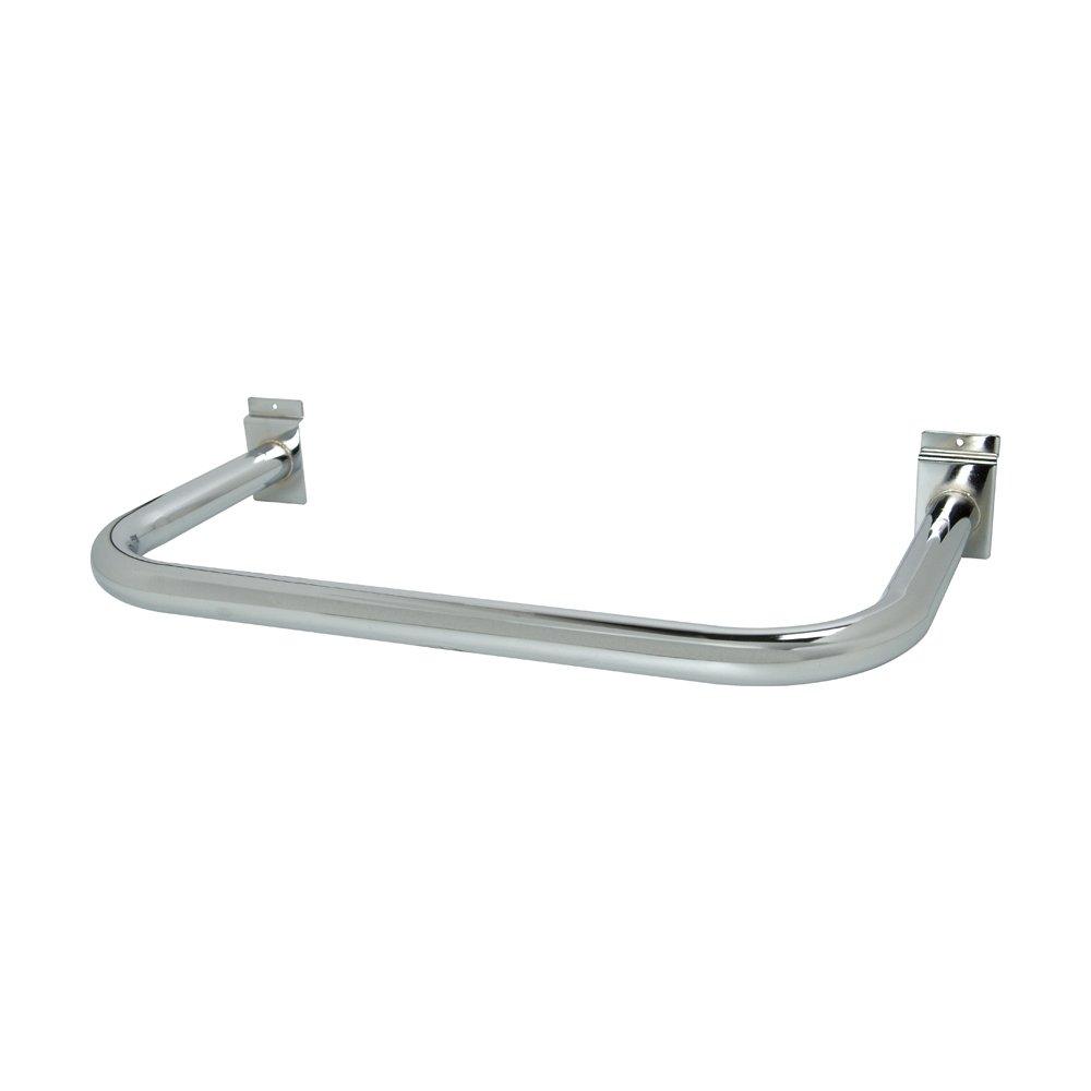 Econoco SW681/C U-Shaped Hangrail, Round Tubing (Pack of 10)