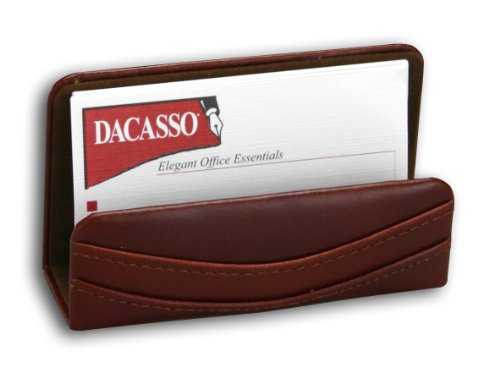 Dacasso Mocha Leather Business Card Holder