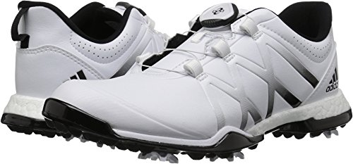 adidas Women's Adipower Boost BOA Golf Shoe, White/Black, 7 M US