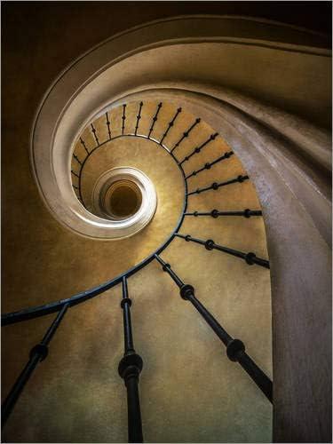 Posterlounge Cuadro de metacrilato 30 x 40 cm: Golden Spiral Staircase de Jaroslaw Blaminsky: Jaroslaw Blaminsky: Amazon.es: Hogar