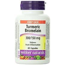 Webber Naturals Turmeric and Bromelain Capsule, 300/150mg