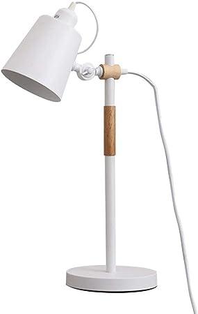 Sgxpjj Lámparas De Mesa para Leer, Estudiar, Oficina Iluminación Nocturna Interior Lectura En Infantiles Lámpara LED,Table Lamp (Color : Blanco): Amazon.es: Hogar