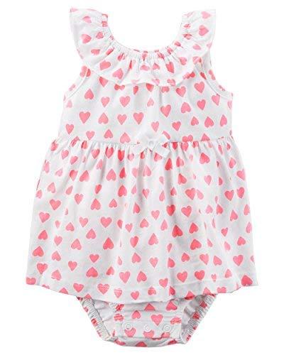 Carter's Baby Girls' Heart Sunsuit- Newborn - Carters Girls Infant Sunsuit