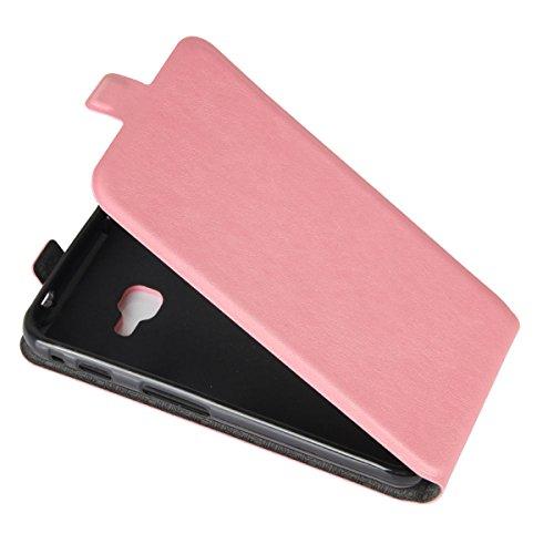 Para Samsung Galaxy X 4 G390F Caso compacto de piel PU, arriba-abajo piel abierta PU Funda de piel con ranura para tarjeta y función de protección completa con cierre magnético Caja a prueba de golpes Rosado