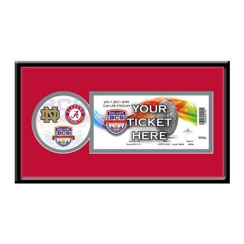 NCAA Alabama Crimson Tide 2013 BCS Championship Single Ticket Frame Bcs National Championship Tickets