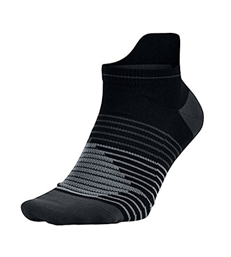 Nike Men's Lightweight No Show Running Socks Large (8-12), Black/Anthracite/Anthracite