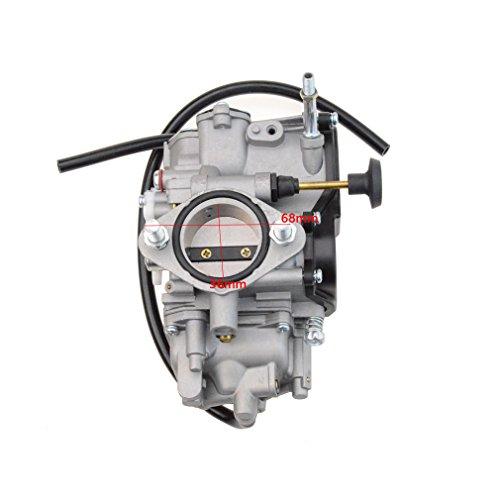 GOOFIT PV36 Carburetor for Yamaha Warrior 350 Koaiak 350 YFM350 BW350 1987-2004 ATV Quad Carb Hand Choke (2001 Big Bear 400 Intake Manifold)