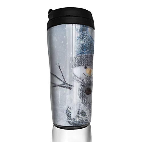 (Christmas Snowman Travel Mug Coffee Thermos Stainless Steel Flask Water Bottle)