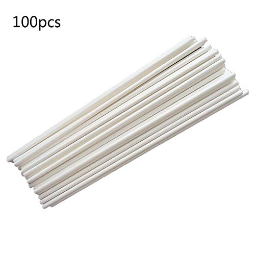 Baking & Pastry Tools - 100pcs Pack 10cm Length Food Grade Paper Handmade Lollipop Chocolate Bar Candy Desserts Sticks Party - Tools Baking Pastry Baking Pastry Lollipop Stick Chocolate Pa ()