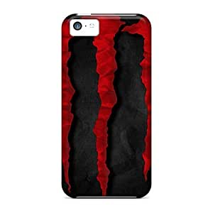 LJF phone case Elaney Design High Quality Red Monster Energie Cover Case With Excellent Style For iphone 6 4.7 inch
