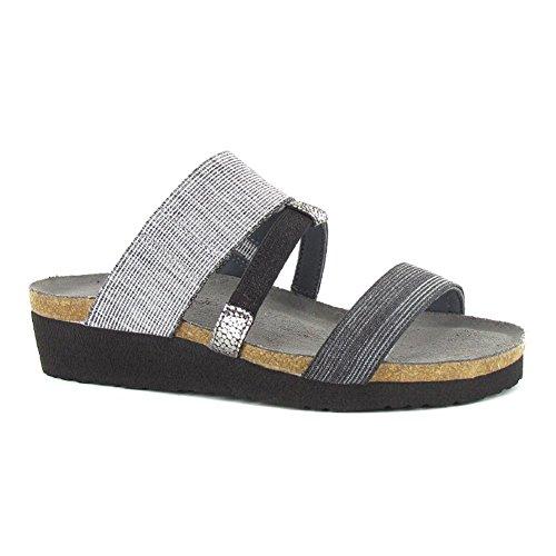 Naot Brenda Splash Women Sandals, Lgt Gray/Melange/Black Stretch,Size - 42 (Naot Shoes Sandals)