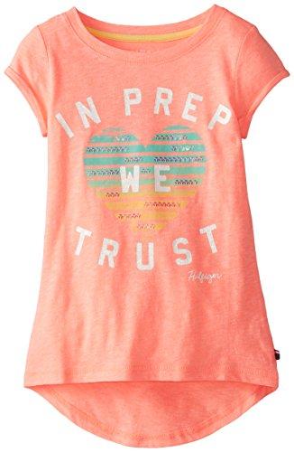 Tommy Girl Big Girls' Prep Embellished Top, Neon Melon, Large