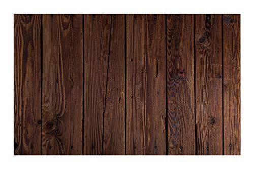 JANNINSE Rustic Wood Theme Brown Wood Plank Texture Shadow Silhouette Vertical Stripe Large Door Mat, Absorbing Door Mat Interior Door Mat Front Door Mat Dog Pet Door Mat Height to - Shadow Stripe Brown