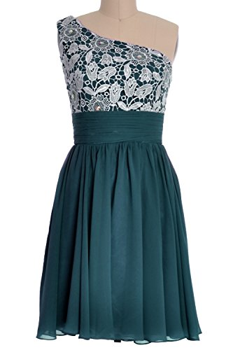 Teal MACloth Party One Homecoming Short Lace Women's Dress Gown Prom Formal Shoulder HPqR1wH