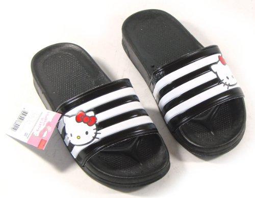 Hallo Kitty Lala Mooie Dames Zomer Slippers Schoenen Strand Zwembad Zwart Maat 8